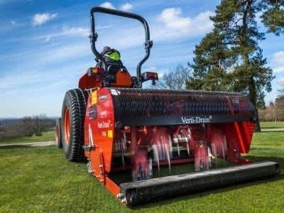 Machinery Hire Division banner showing vertidrain