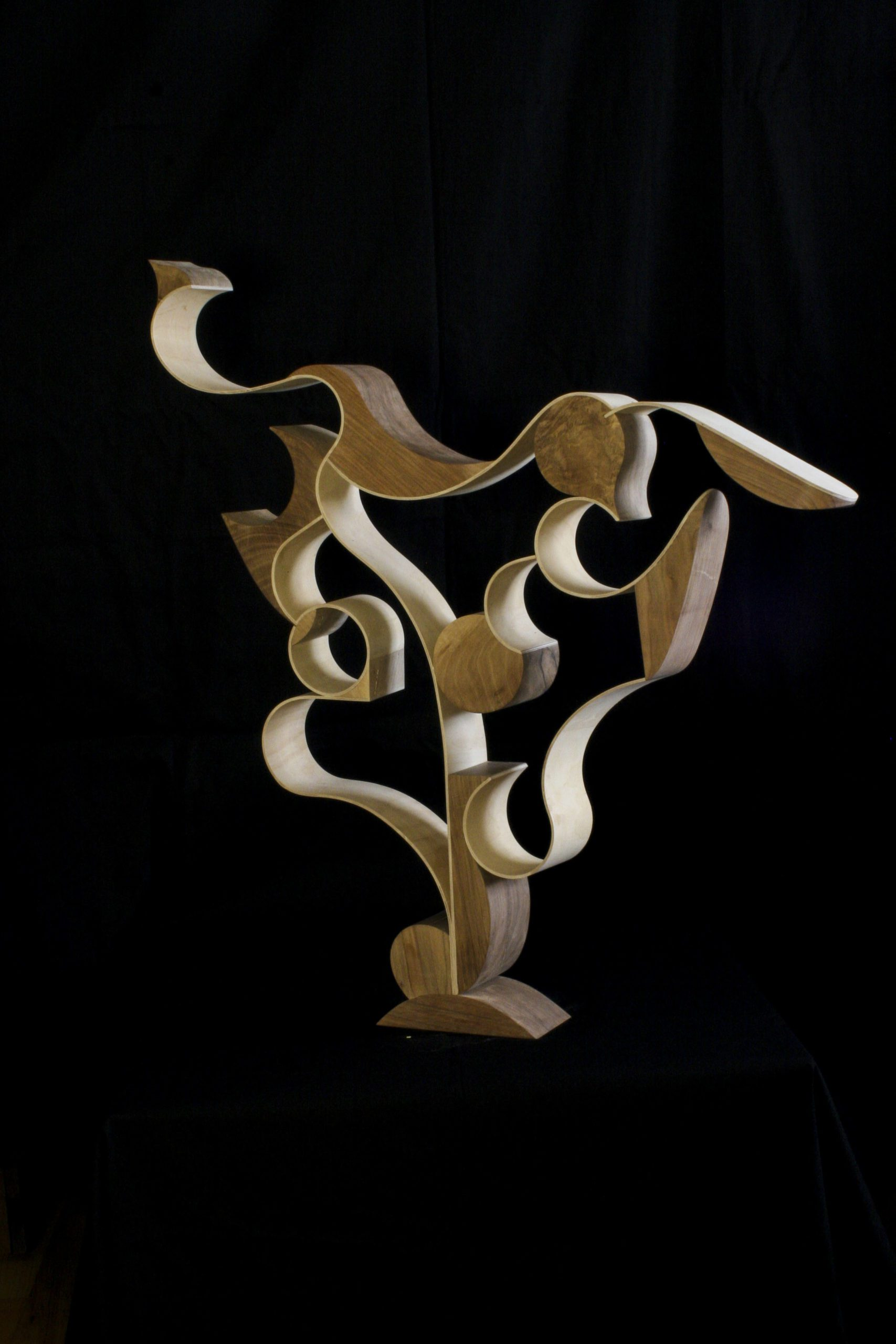 Sculpture 'Me' in wood and plywood